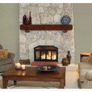 412-#70-Fireplace-Room-Setting-Cherry-Rustic-Distressed